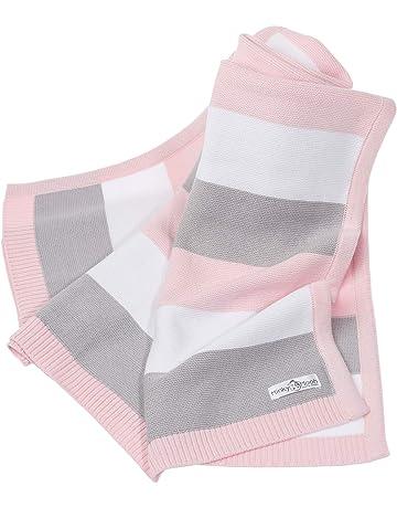 21fc2ebebb53 Coperta bebé in cotone biologico al 100% - morbida coperta a maglia ideale  come coperta