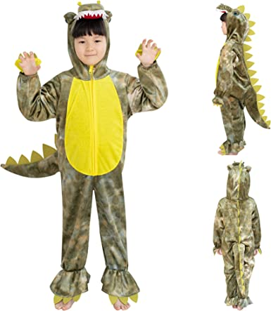 Dearsun Dinosaur Costume Animal Fancy Dress Costume Hooded Romper Jumpsuit