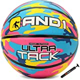 AND1 Ultra Grip Advanced Premium Rubber Basketball (Inflated) OR (Deflated w/Pump Included): Official Regulation Size 7 (29.5
