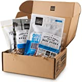 People's Choice Beef Jerky - Jerky Box - Simple & Savory - Dad Gift for Men - Protein Snacks Military Care Package - Best Fat