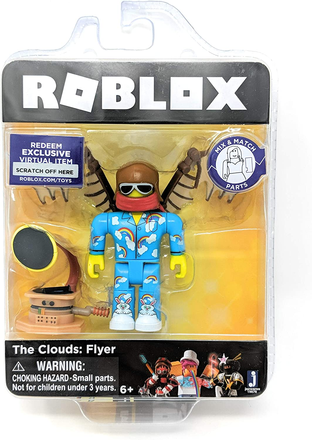 City Of London United Kingdom Roblox Amazon Com Roblox Gold Collection The Clouds Flyer Single Figure Pack With Exclusive Virtual Item Code Toys Games