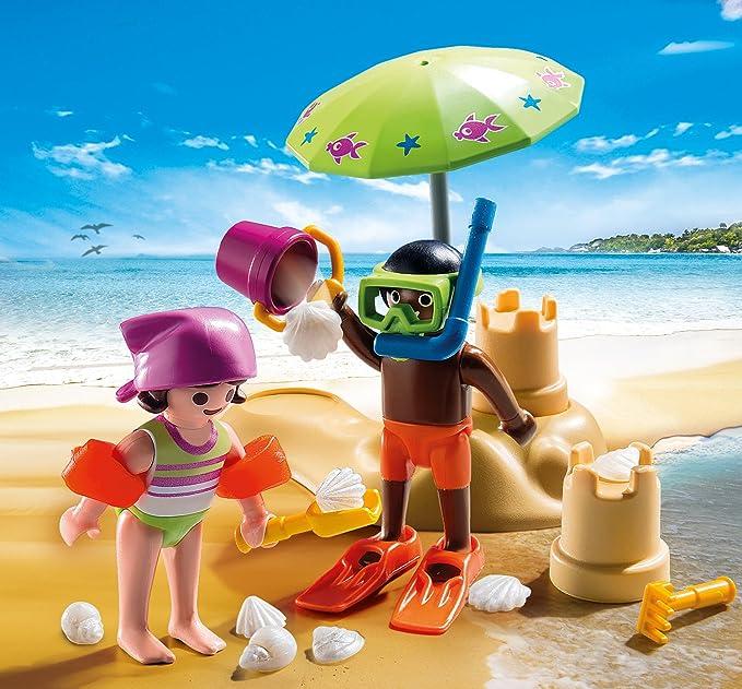 PLAYMOBIL Especiales Plus- Niños en la Playa, única (9085): Amazon ...