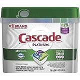 Cascade Platinum ActionPacs, detergente para lavaplatos, aroma fresco, 48 unidades