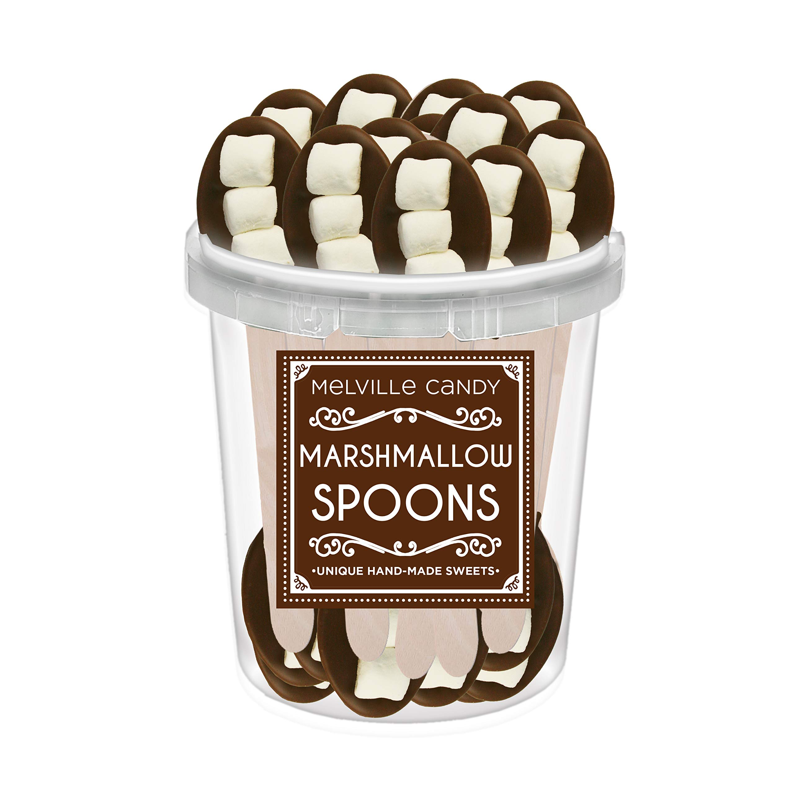Chocolate Dipped Spoon With Three Jet Puffed Marshmallows (30 Ct) by Melville Candy