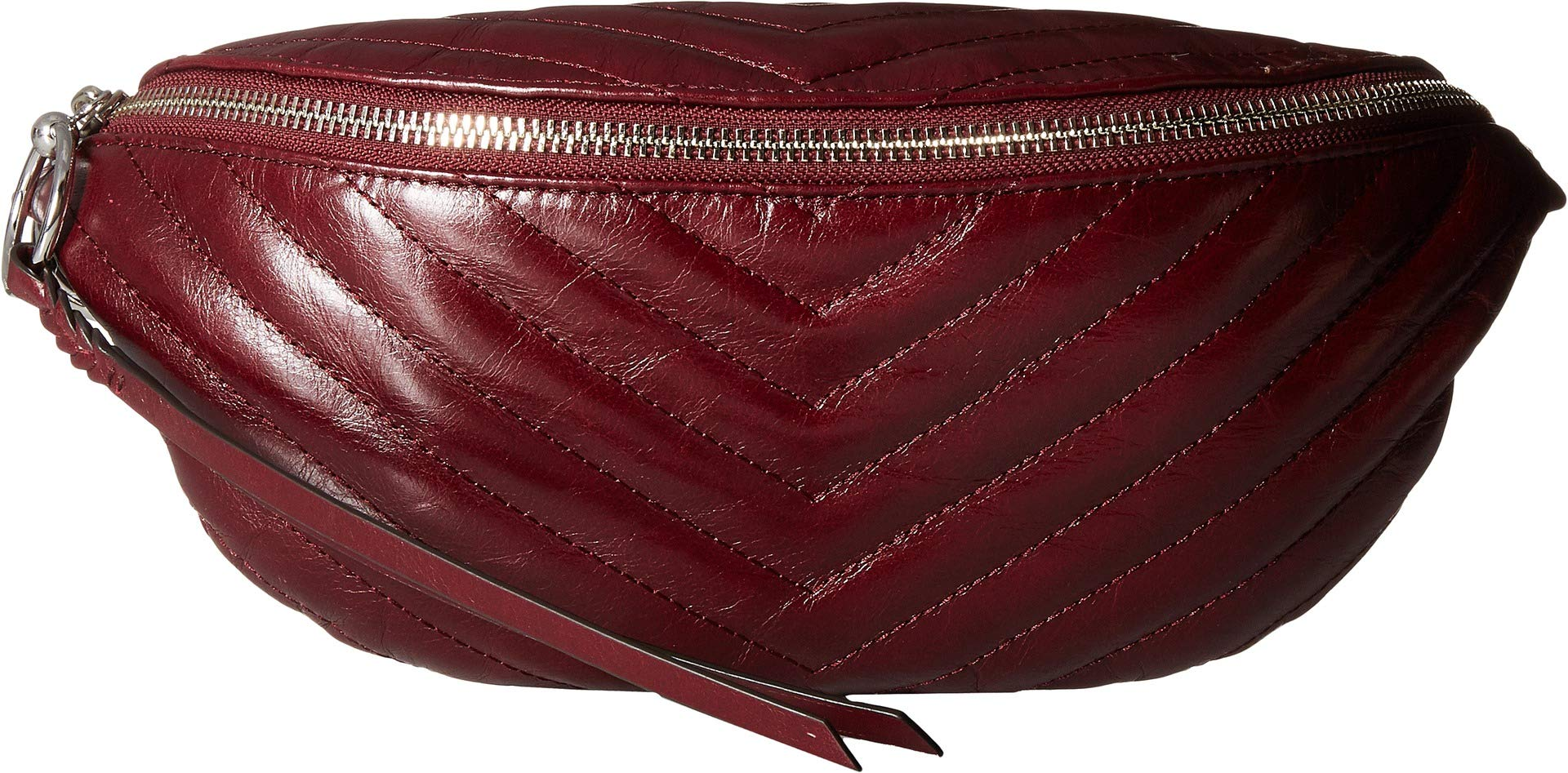 Rebecca Minkoff Women's Edie Quilted Belt Bag, Bordeaux, Red, Purple, One Size