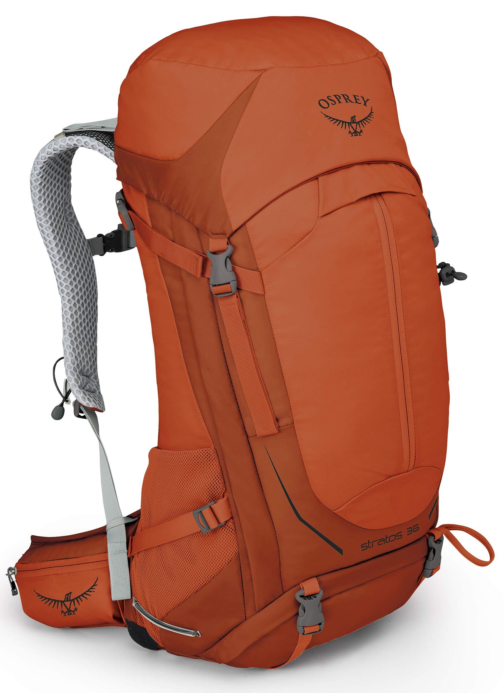 Osprey Packs Stratos 36 Hiking Backpack, Sungrazer Orange, Small/Medium