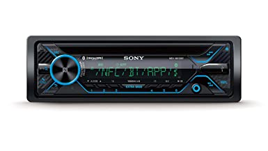 Sony MEX-XB120BT Single DIN Hi-Power Bluetooth In-Dash CD AM FM SiriusXM Ready Car Stereo with 180W RMS CEA Rated Power built-in 4-channel 45W x 4 Amplifier