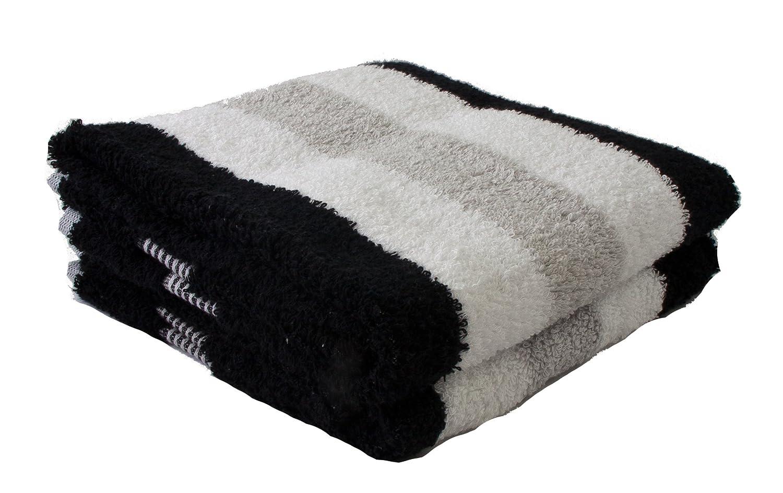 Gözze 555-9100-A4 Hand Towel Set 100% Cotton 550 g/m² Öko-Tex 100 Standard Black/White / Silver