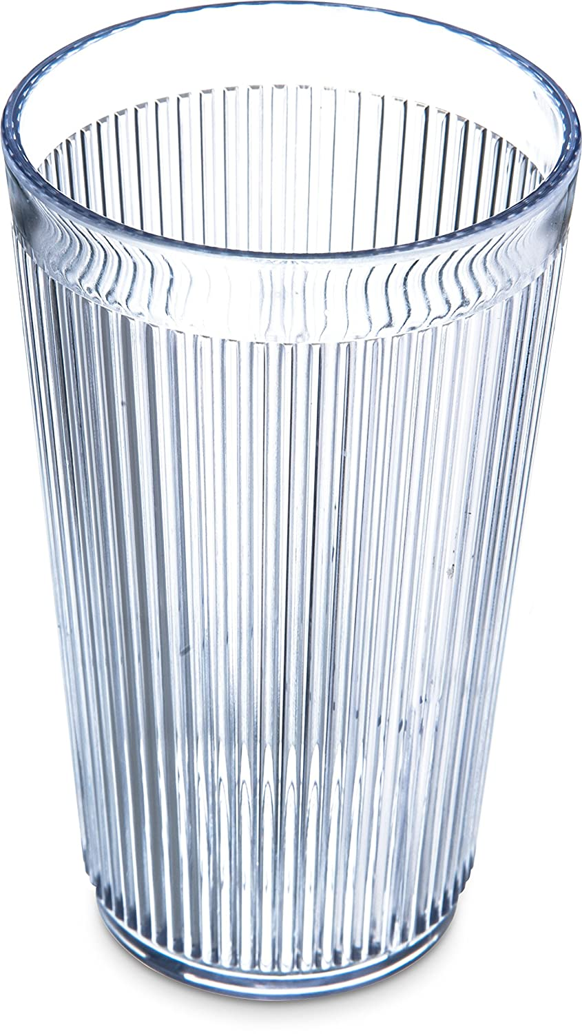 Carlisle 401207 Crystalon Stack-All Restaurant SAN Plastic Tumbler/Cup, 12.3 oz, Clear (Pack of 48)