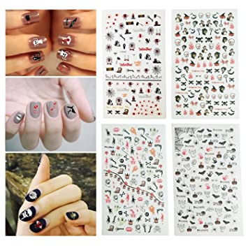 Amazon Fanme Halloween Nail Stickers 3d Nail Art Tattoo Decals