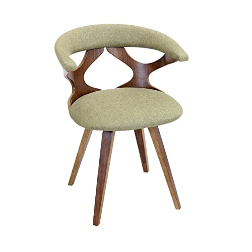 WOYBR Wood, Polyester Fabric, Foam Gardenia Chair, 21.25 Lx21.5 Wx29.5 H, Green