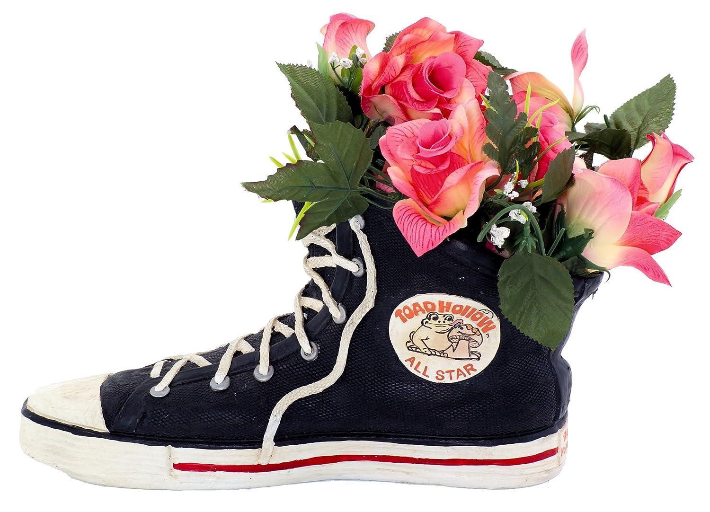 Home Styles Medium 40011 Black High Top Sneaker Shoe Planter Statue 7 h Holds a 4 w Pot