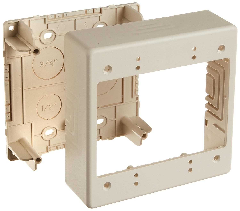 Hellermann Tyton TSRPFW-JBD Caja de conexiones de doble salida, 1,5 pulgadas de profundidad, PVC, color blanco oficina: Amazon.es: Industria, empresas y ciencia