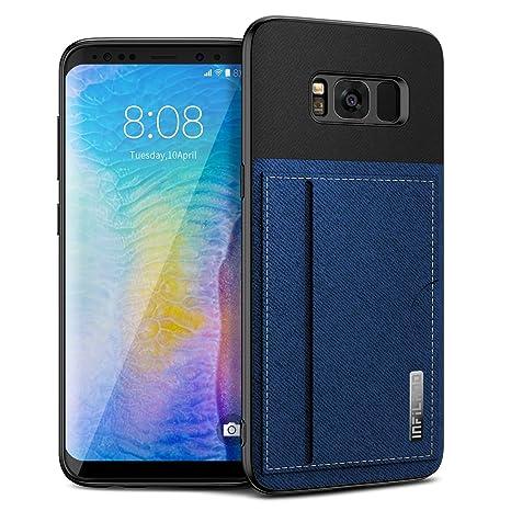 Infiland Funda para Samsung Galaxy S8, Carcasa Silicona Protector TPU con Ranura para Tarjeta Airbag Anti-Choque Ultra-Delgado Case Compatible con ...