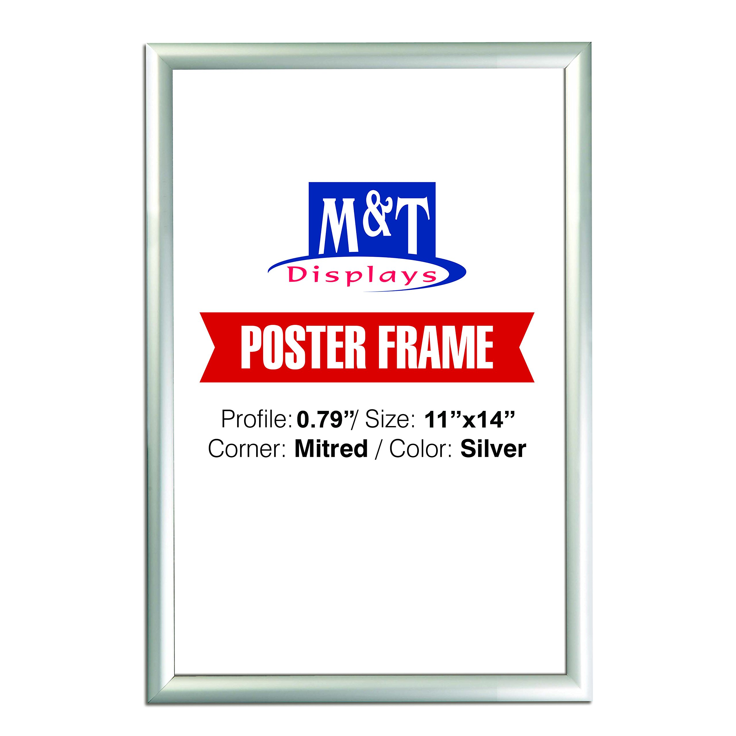 M&T Displays Snap Frame 11X14 inch, Poster Size 0.79 inch, Silver ...