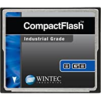 Wintec Compact Flash Card Industrial Grade SLC Nand, Black (33100128MCF) 8GB