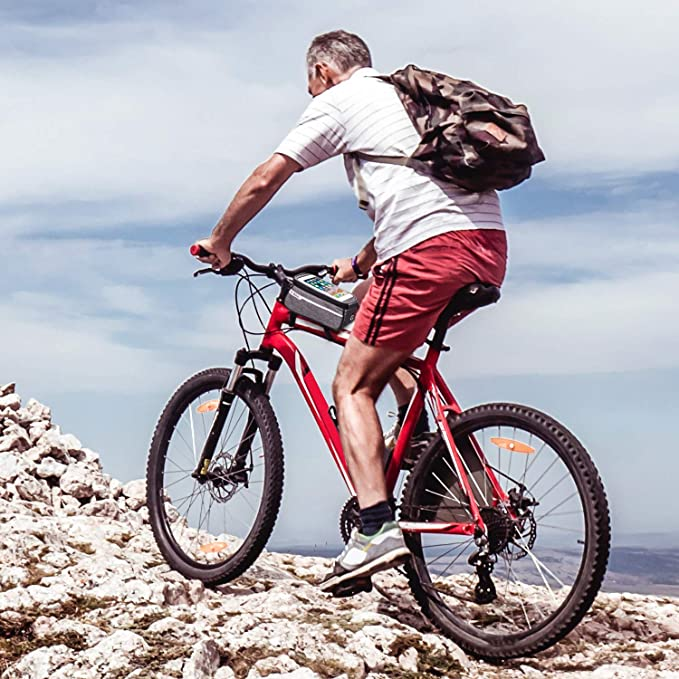 Weeygo Bolsa de Bicicleta, Bolsa de Marco de Bicicleta Bolso Impermeable del Soporte del teléfono del Tubo del Tubo Superior de la Bici para Smartphone hasta 6
