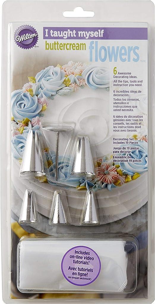 Wilton – Me Enseña Buttercream Flores decoración Libro Set ...