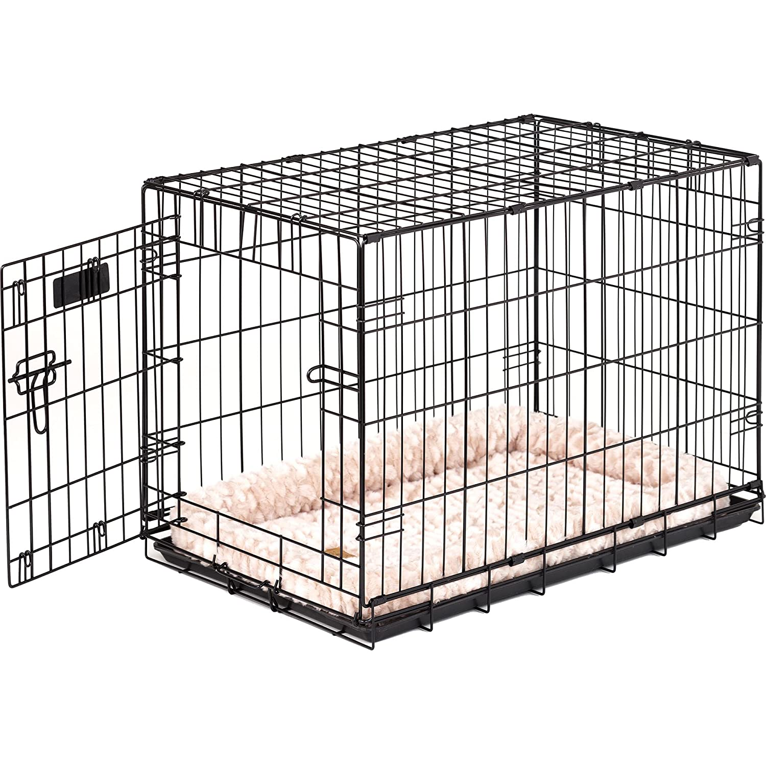 30-inches x 19-inches x 21-inches Precision Pet 7011243 ProValu, Single Door Dog Crate, Black