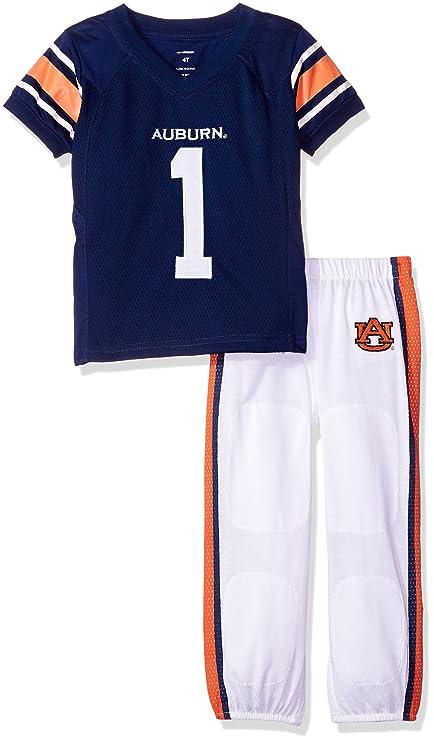 FAST ASLEEP NCAA Auburn Tigers Boys Toddler Junior Football Uniform Pajamas 962452e48