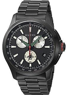 30fda9415b6 Gucci Swiss Quartz Stainless Steel Dress Black Men s Watch(Model  YA126268)