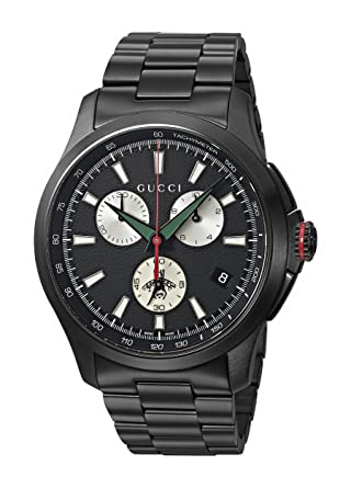 8eade2675e7 Amazon.com  Gucci Swiss Quartz Stainless Steel Dress Black Men s Watch(Model   YA126268)  Gucci  Watches
