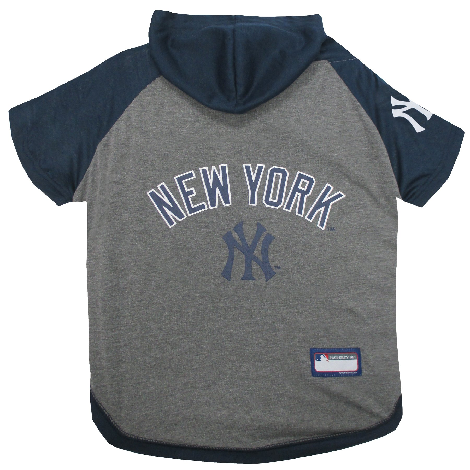 Pets First MLB Hoodie For Dogs & Cats - NEW YORK YANKEES Dog HOODED T-Shirt, Large. - MLB Team Color HOODY