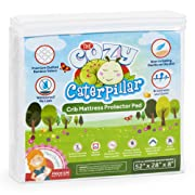 Cozy Caterpillar Crib Mattress Protector Pad | 100% Waterproof Bamboo Crib Mattress Cover/Topper for Baby & Toddler | Hypoallergenic | Eco-Friendly | Washer & Dryer Safe | No Harsh Chemicals
