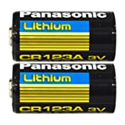 2 Pack Panasonic CR123A 3V Lithium Batteries for Cameras, Flightlight