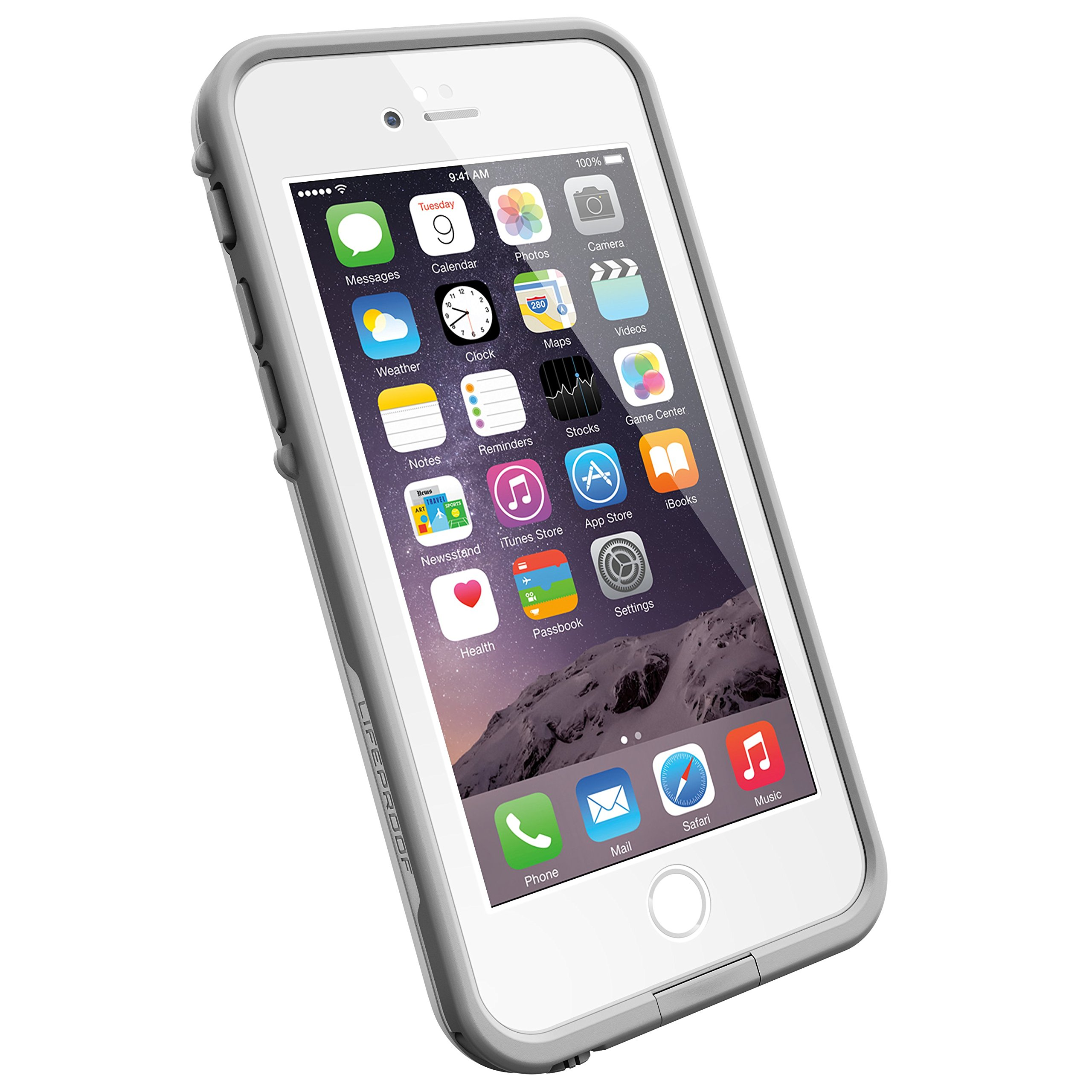 LifeProof FRE iPhone 6 ONLY Waterproof Case (4.7'' Version) - Retail Packaging - AVALANCHE (BRIGHT WHITE/COOL GREY)