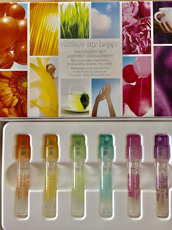 8187be46fc480 Amazon.com   Clinique My Happy Discovery Six-Piece Fragrance Mini Set 0.05  oz each   Beauty