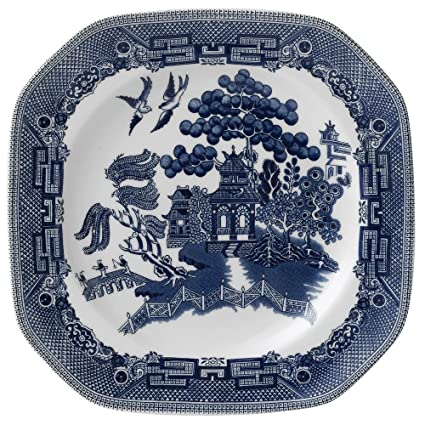 Johnson Brothers Willow Blue Dinnerware Square Salad Plate 7.75u0026quot;  sc 1 st  Amazon.com & Amazon.com | Johnson Brothers Willow Blue Dinnerware Square Salad ...