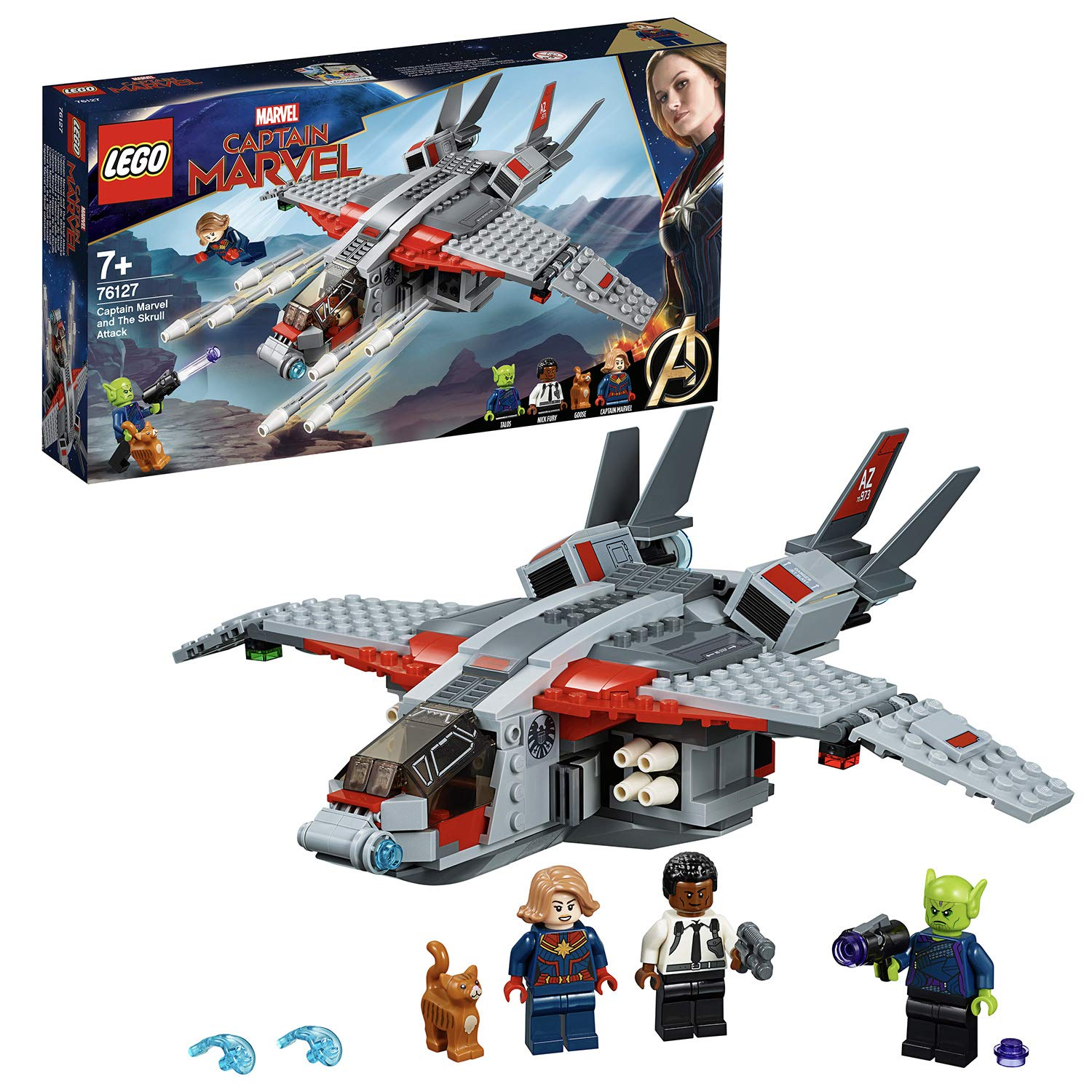 Lego 76127 Captain Marvel And The Skrull Attack Building Kit Amazon
