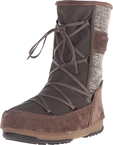 Tecnica Women's Moon Boot Vienna Mix Olive Boot 37 (US Women's ...