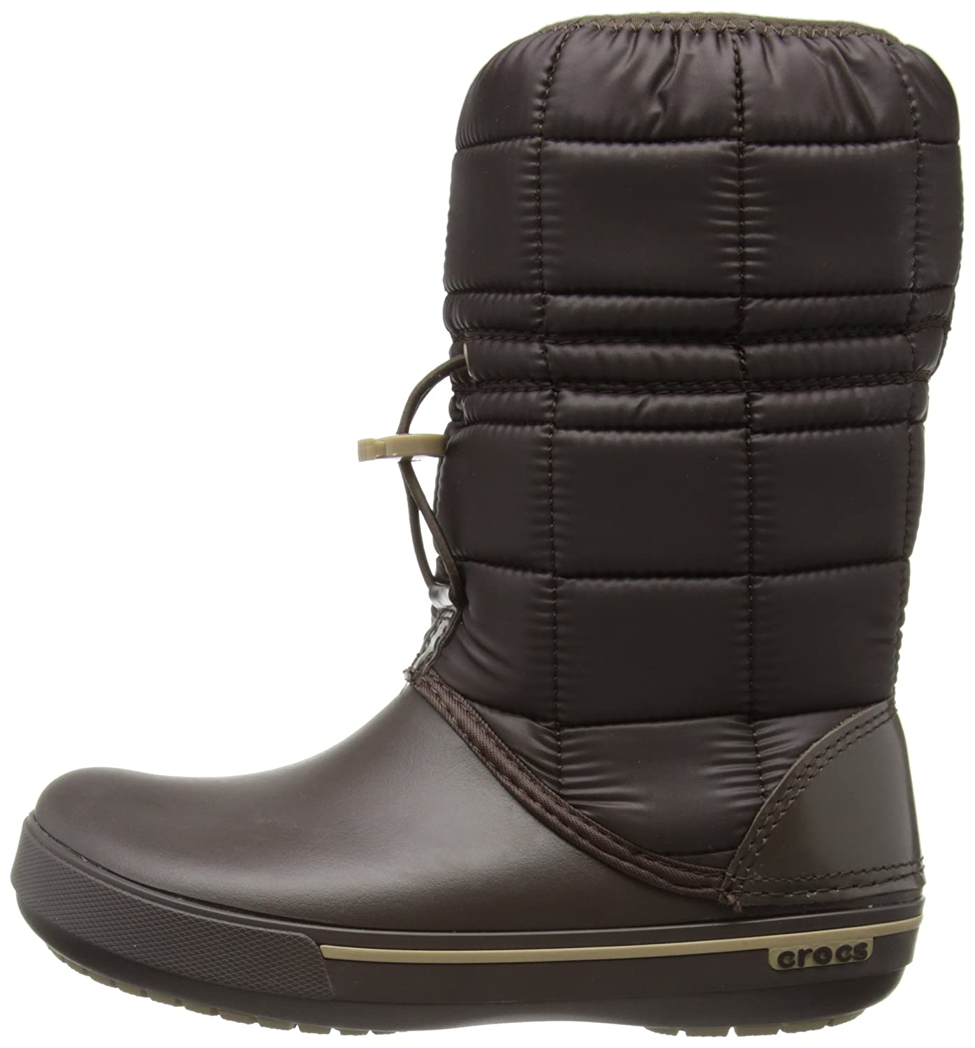 Winter Puff Boot Women, Mujer Bota, Negro (Black/Charcoal), 36-37 EU Crocs