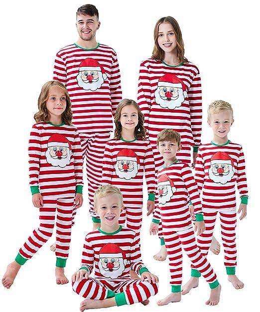 Matching Christmas Pjs.Family Matching Christmas Pjs Christmas Stripe Boys Girls Pajamas Kids Sleepwear