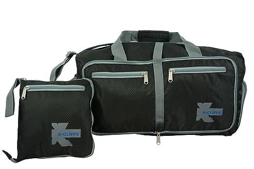 K Cliffs Foldable Duffel Bag Durable Lightweight Travel Heavy Duty Sport Gym