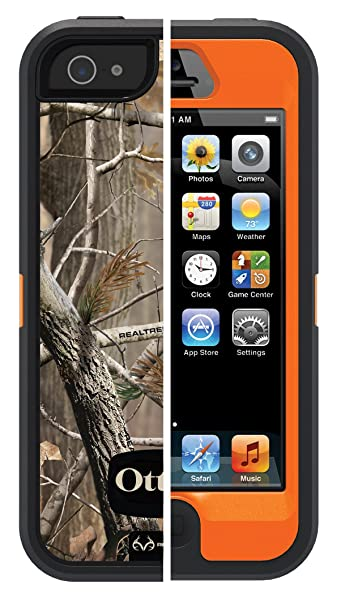 906d9d49a77 Amazon.com: OtterBox Defender Series Case for iPhone 5 -(Not for iPhone 5C  or 5S / SE)(Discontinued by Manufacturer) - Realtree Camo - AP Blazed: Cell  ...