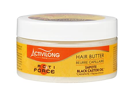 Activilong Actiforce mantequilla capilar, ricino, aceite de ricino negro, 100 ml