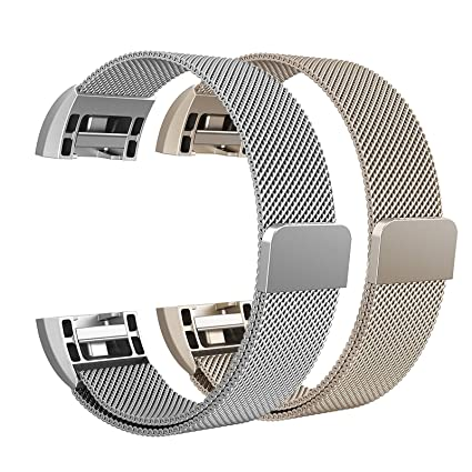 Fitness, Running & Yoga Fitbit Charge 2 Replacement Bands Small Accessory Stainless Steel Buckle 3 Pack Sporting Goods