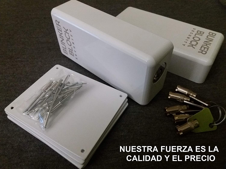 2 Cerraduras Candados + Placas Refuerzo Puertas Furgonetas (BUNKER BLOCK Mod. Manual MN20) MADE IN SPAIN