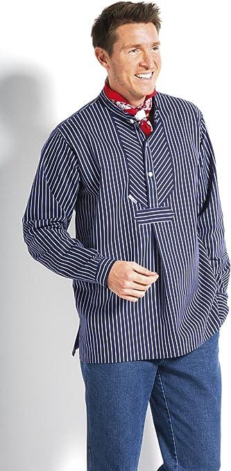 Modas Finkenwerder Fischerhemd Marine Matrose Hemd für Damen schmal gestreift