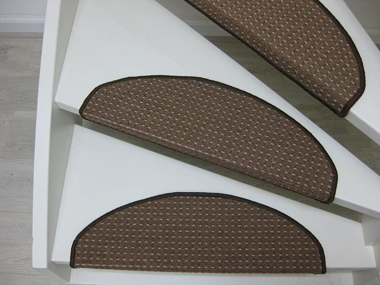 15 Tappeti per scalini - passatoie per singoli gradini Maputo 65x25cm rosso, marrone, beige (beige) Teppichwahl