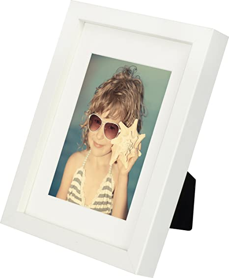 5 x 7-Inch Picture Photo Frame with mount for 4 x 6-Inch photo ...