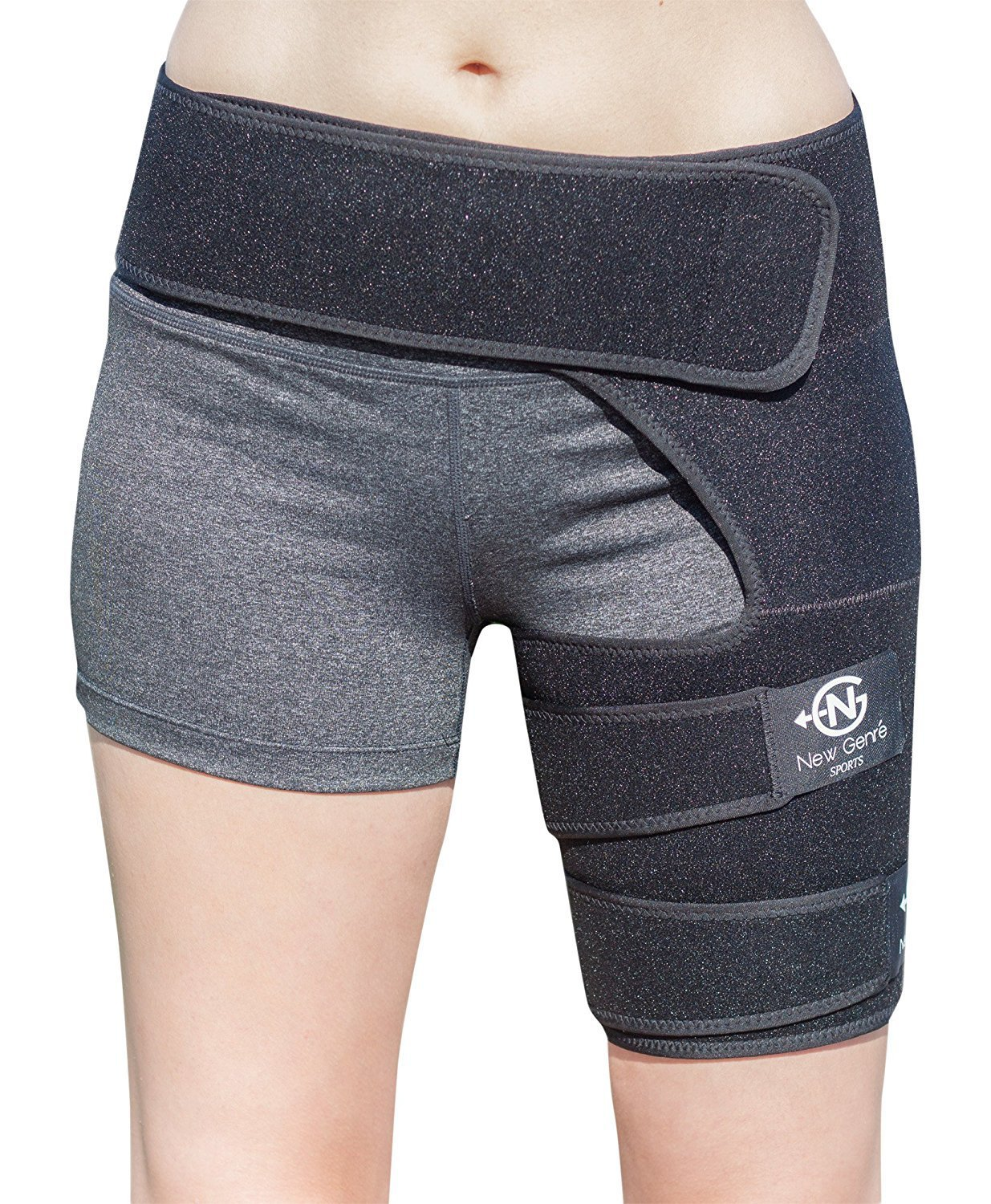 BiuStyle Wrap for Groin Hip Thigh Quad Hamstring Joints Sciatica Nerve Pain Relief Strap, Adjustable Support Brace for men/women providing recovery from leg muscle injury pull Belt