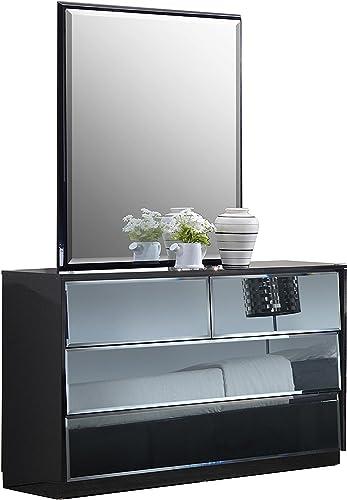 MILAN Rome Black 6-Drawer Dresser