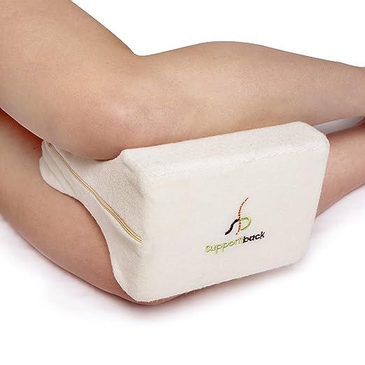 Supportiback® Cojín ortopédico para ciática, espalda, caderas, articulaciones, alivio de dolores de embarazo y dormir de lado — Diseño ergonómico ...
