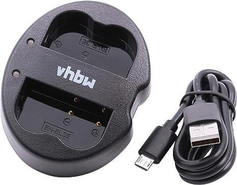 vhbw Micro Usb Caricabatterie Doppio Per Batteria