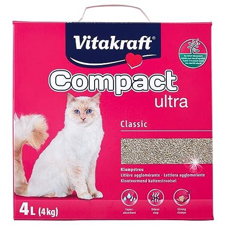 VITAKRAFT arena Ultra agrupamiento arenero para gatos, 4 kg, ...