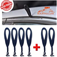 RoofPax - 6 Rooftop Cargo Tie Down Hooks for Strapping Down Any Car Top Cargo. NO More Straps Inside Your CAR, Sturdy, 100% Waterproof. Attaches to Car Door Frame. Patent Pending.!